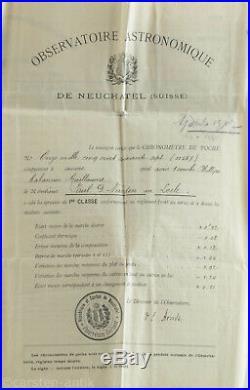Ulysse Nardin Observatory Chronometer Art Nouveau Niello case Original Box 1907