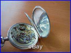 Unique Eugene Bornand & Cie. Chronograph Silver Case Pocket Watch No Reserve