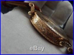 Unique PATEK PHILIPPE 14k gold case hand engraved