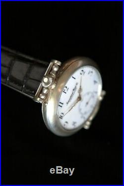 Unique handmade watch with IWC movement in engraving silver case