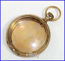 VERY NICE KEYSTONE J. BOSS 16s GOLD FILLED POCKET WATCH CASE 48g QF17