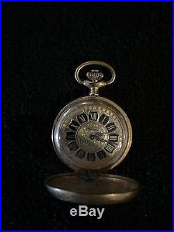 VINTAGE POCKET WATCH Yellow Gold Plated/Brass Full Case Pocket Watch 1930's