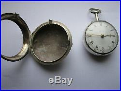 Verge fusee pair case watch circa 1780