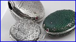 Very Rare ottoman-turkish verge pocket watch 4 cases silver