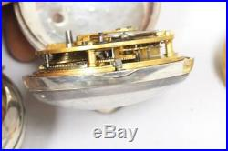 Victorian Pair Cased Pocket Watch Fusee Verge Solid Silver Pocket Watch C1872