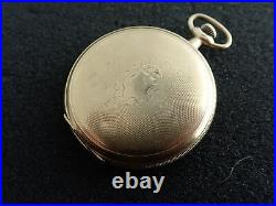 Vintage 12 Size E Howard Hunting Case Pocket Watch Running And Keeping Time