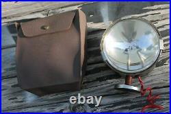 Vintage 12 volt magnet mount light lamp with pouch auto service tool