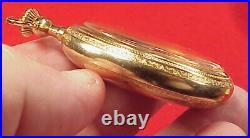 Vintage 16 Size 47mm Stem Set Gold Filled Fancy Pocket Watch Case Empty