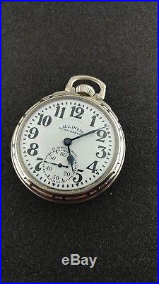 Vintage 16 Size Illinois Bunn Special Rare 60hr Dial With Bunn Case