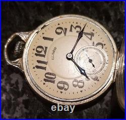Vintage 17s Illinois 23j Sangamo Special Orig 14k W. G. F Bow Case Keeping Time