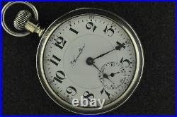 Vintage 18s Hamilton 940 21j Motor Barrel Salesman Case Keeping Time