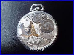 Vintage Art Deco Sales Mans Elgin Pocket Watch Very Rare Exhibition Case 1923