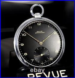 Vintage DOXA Black Gilt Dial, 47mm snap case, 40s mens pocket watch