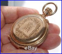 Vintage Elgin Pocket Watch VERY HEAVY 14K GOLD BOX HINGE ORIGINAL HUNTER CASE