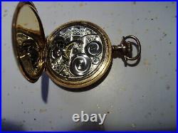 Vintage Elgin Pocket watch, hunter case, has FM 1916 etching 1 3/4 1544106 runs