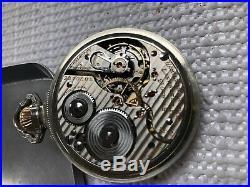 Vintage Hamilton 16s 21J pocket watch 992b railway grade 14kGold-fill Case & FOB