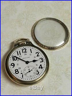 Vintage Hamilton 23 Jewel 950b Railroad Grade Pocket Watch 10 Gf Case (boc)