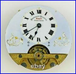 Vintage Hebdomas Pocket Watch Movement Working Plus a Case (M145)