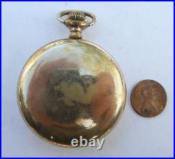 Vintage Omega Pocket Watch Gold Filled Case 15 Jewels Mechanical