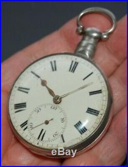Vintage P/W UNSIGNED ENGLISH FUSEE ORIGINAL PAIR CASES HALMARKED 1821-1822