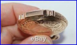 Vintage Pendant Watch 14K GOLD HUNTER CASE AMERICAN WALTHAM Est. YOP 1894-98