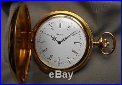 Vintage Pocket Watch Arnex Swiss 5 Minute Repeater 17J Hunter Case in Orig Box