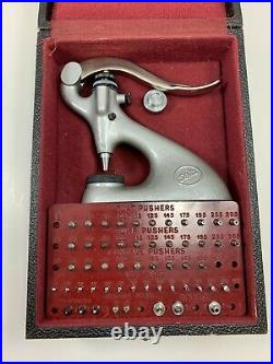 Vintage Seitz Jeweling jewel tool for pocket and wrist watches original case