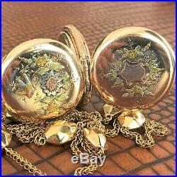 Vintage Tri-Gold Pocket Watch Hunter Case Only 0 size
