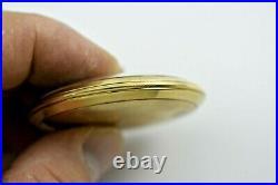 Vintage Waltham Premier 14K Solid Gold Case 12s 23J 5Adj Pocket Watch lot. E