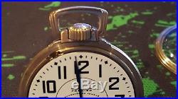 Vintage Waltham Vanguard 23 Jewel Pocket Watch 10K Gold filled case Lever set