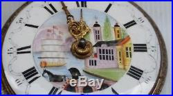 Vtg 1771 George III Tarts of London Silver Repousse Pair Cased Pocket Watch