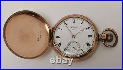 Vtg 1920s Waltham USA Dennison Moon Cased Gold Plated Full Hunter Pocket Watch