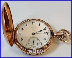WALTHAM ROYAL 14k ROSE GOLD Hunting Case Model 1888 120 Gr. 50mm diameter