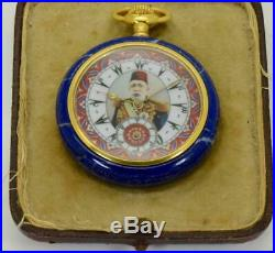 WOW! The personal watch of Sultan Mehmed V. Carved Lapis-Lazuly stone case Zenith