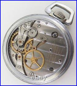 WWII Longines GCT 24 Hour US Army Air Corps Navigation Pocket Watch A-9 Case