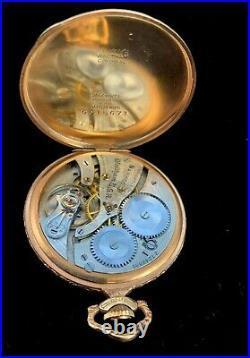 Waltham 12 Size 17 Jewel Secometer Fancy Dial Rose GF Case Near Mint Condition