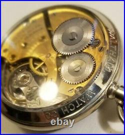 Waltham 16S. A. W. W. Co. 15 jewel gold flashed grade No. 620 Waltham display case