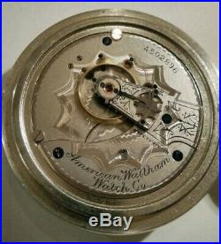 Waltham (1890) 18S. 15 jewels scarce Frosted movement grade No. 15 silveroid case