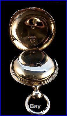 Waltham 18s 15 Jewel Key wind Key set Rarer Silver Hinged Pair Case Extra Fine
