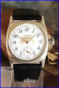Waltham 1907 Fancy Dial/Hands Nickel Cased 0s Restored Vintage Watch