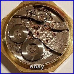Waltham (1915) 12 size Riverside 19 jewels adjusted gold filled octagon case