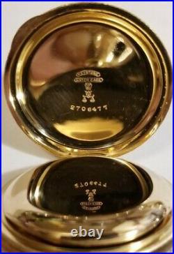 Waltham 6 size 7 jewel fancy dial (1895-98) Super nice 14K G. F. Hunter case