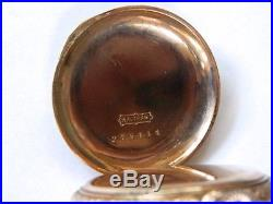 Waltham Antique 14K Yellow Gold Seaside Pocket Watch Double Hunter Case No Scrap