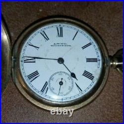 Waltham Bond st Half Hunter Pocket Watch In 10ct Double Plated Case! 1895 GWO