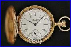 Waltham Grade 62 11j Pocket Watch With H. Muhr's Sons Tri Color Gold Filled Case