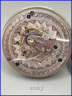 Waltham Model1883 Grade 15 Pocket Watch Waltham Coin Silver Case 18s 17j