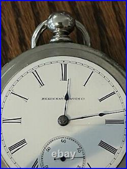 Waltham Pocket Watch, 18S, 7J, Broadway Pair Case, Running, Key, Oresilver
