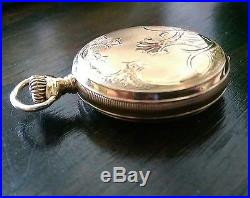 Waltham Riverside Maximus 14k Case Pocket Watch