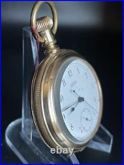 Waltham Riverside Vintage c. 1886/7 14s Pocket Watch 14j Chronograph GF Case