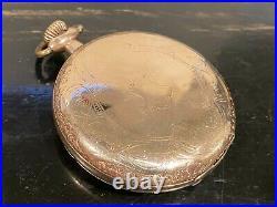 Waltham Riverside size 12 Hunter case gold filled Pocket Watch
